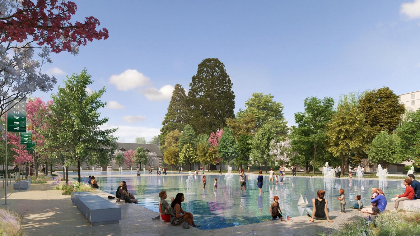 L'actuelle majorité municipale veut réduire la taille de la place  fontaine .