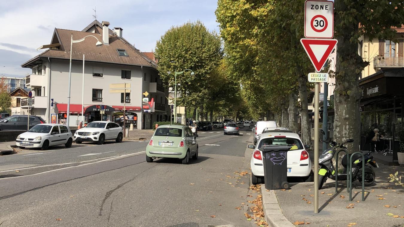 Passée en zone 30, la partie nord de l'avenue de Genève va être en travaux pendant deux mois.
