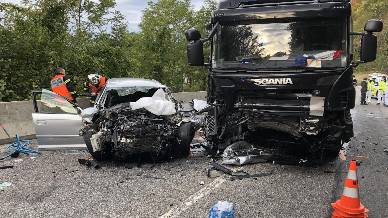 (VIDEO & PHOTOS) Léaz : nouvel accident mortel sur la RD 1206, un Valserhônois de 26 ans décède