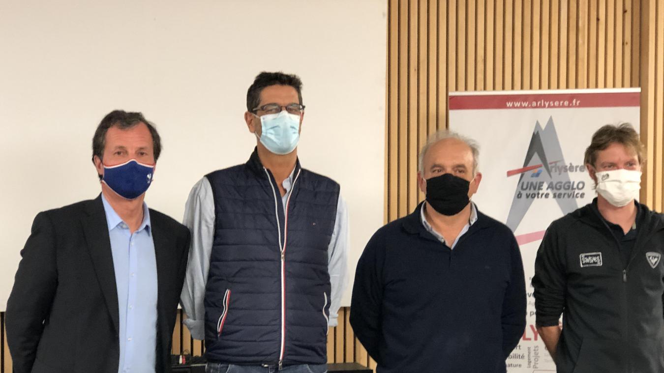 ( De gauche à droite) Michel Vion, Frédéric Burnier Framboret, Christian Frison-Roche et Baptiste Bernaert.