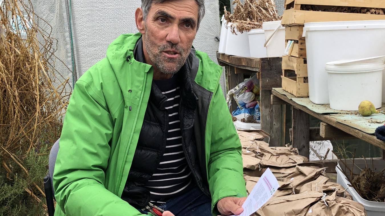 André Veirman, de Terre d'Union, voudrait que plus de ressources soient produites localement pour les habitants (céréales, légumes...).