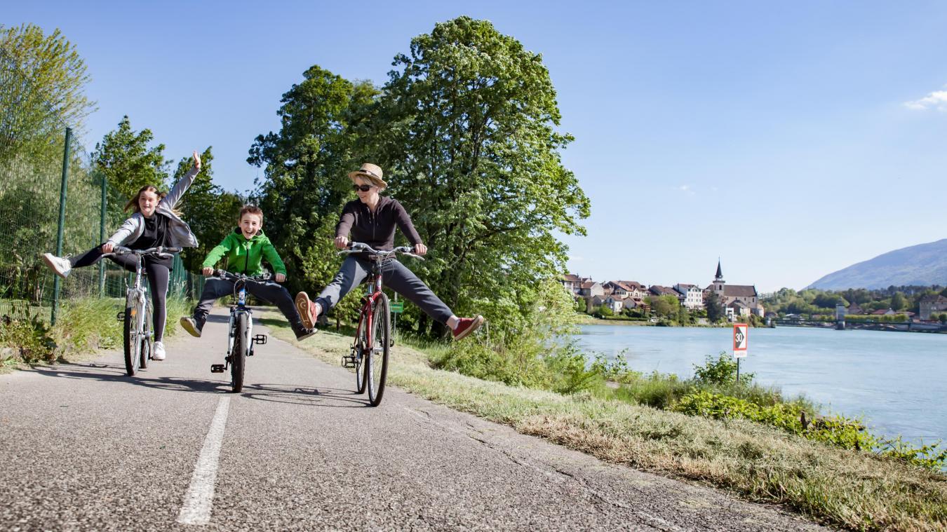 La véloroute à Seyssel, 58 000 utilisateurs en moins de six mois.