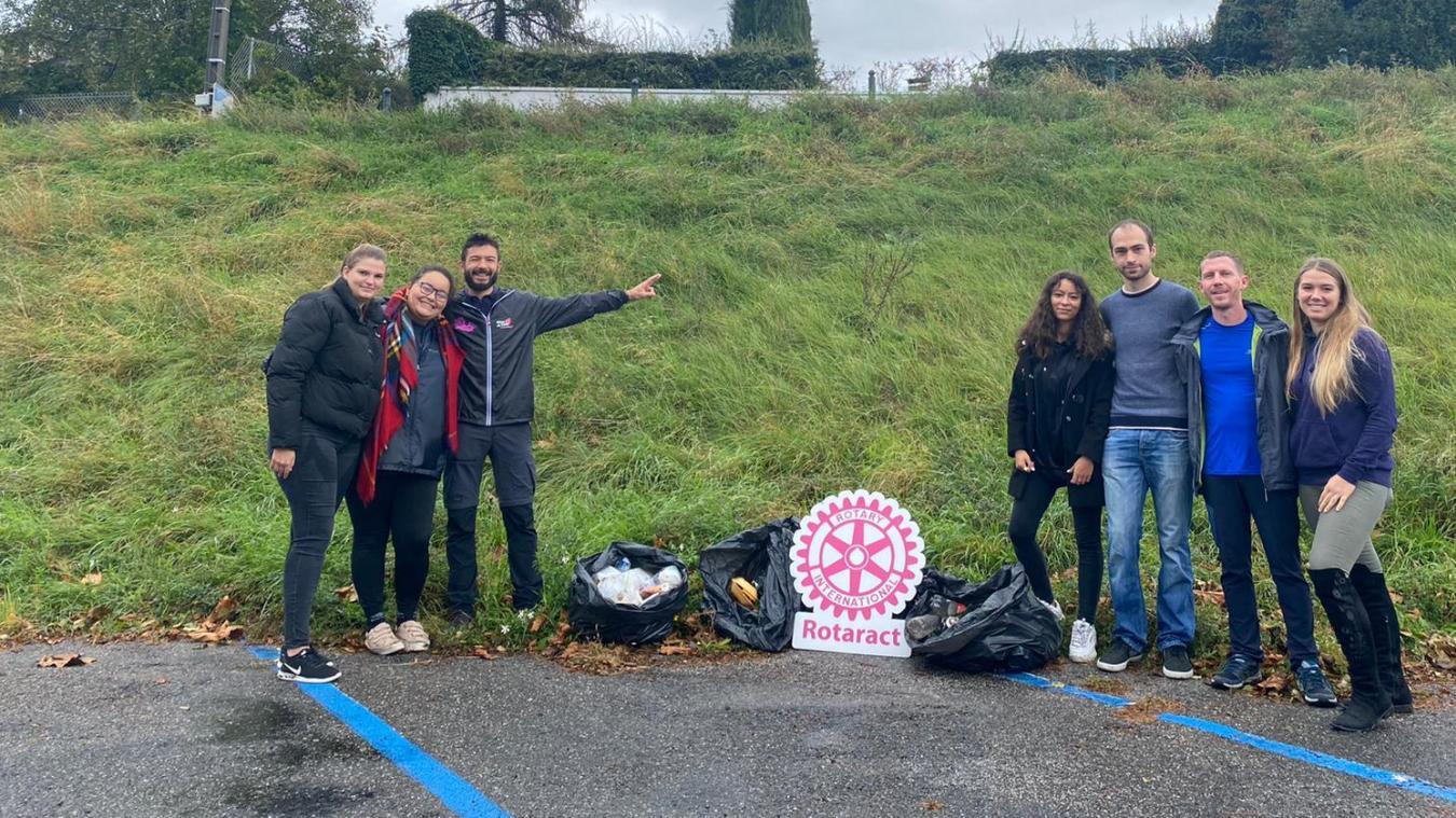 Thonon-les-Bains : les membres du Rotaract ont ramassé 20 kilos de déchets