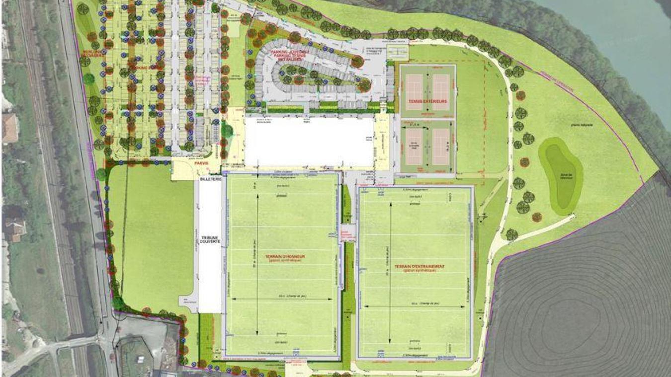 Sur la friche de l'ancienne usine Pechiney, le projet de plaine des jeux a beaucoup évolué, regroupant désormais plusieurs disciplines sportives.