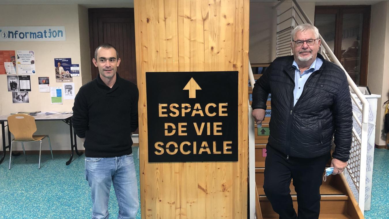 Pierre Portalier et Daniel Raphoz, au sein de « La Boussole ».