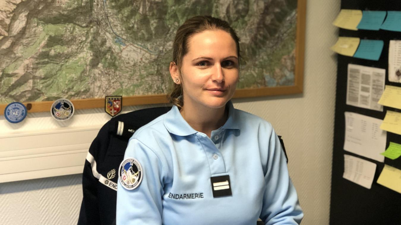 Depuis le 1 er  août, Léa Paumond commande la brigade de gendarmerie de Sallanches.