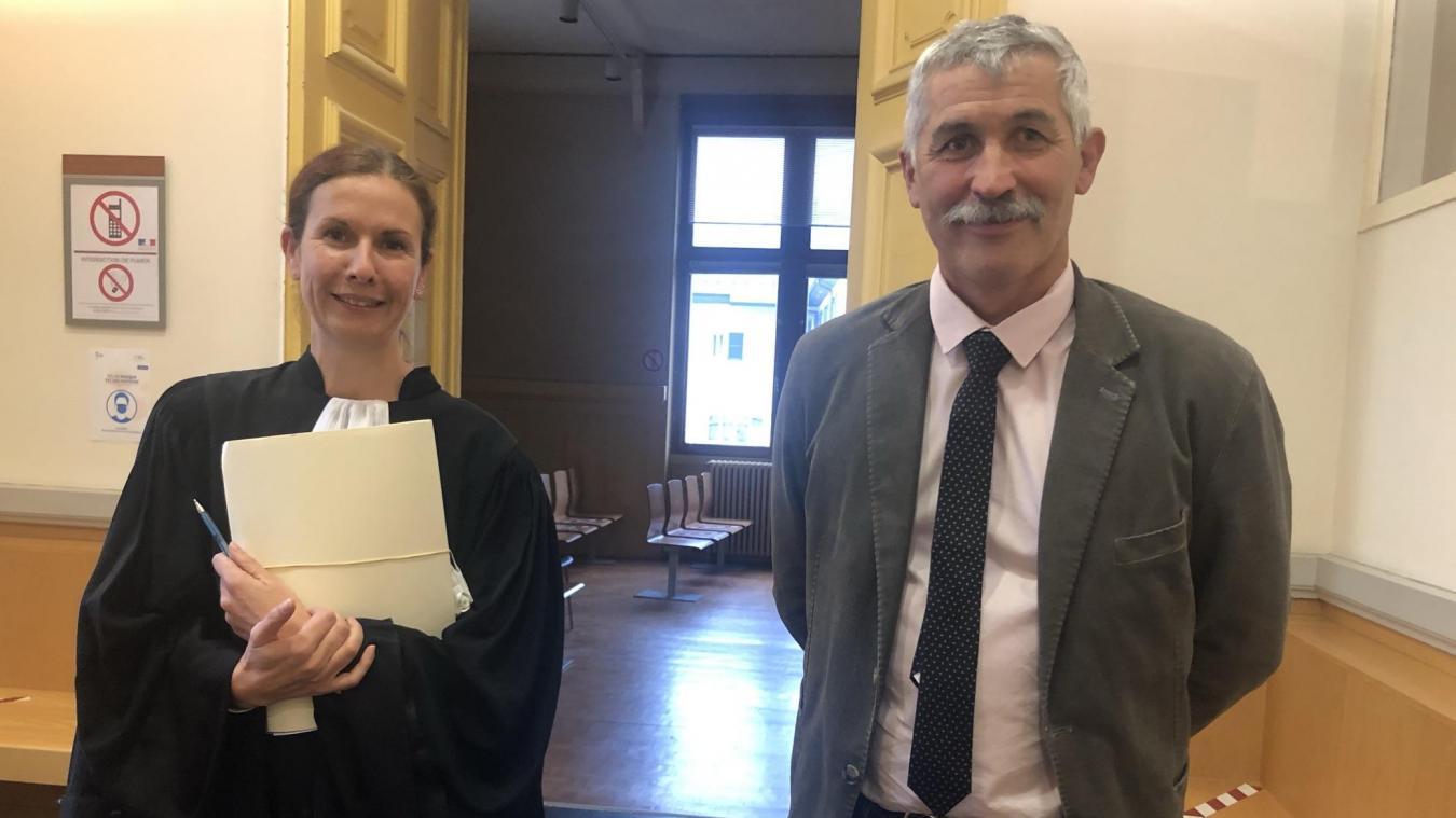 Jean-Charles Mogenet et son avocate Me Émilie Burnier Framboret.