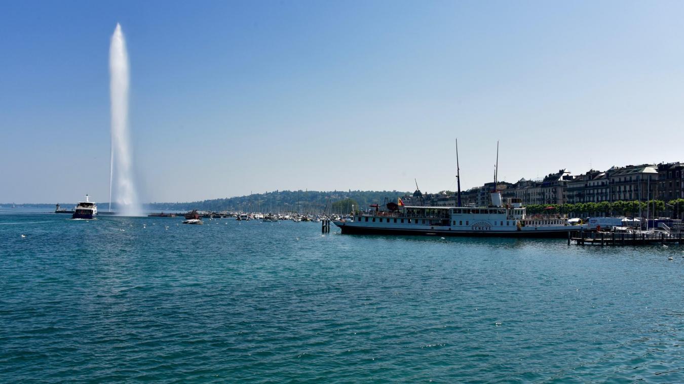 Roi de la rade à Genève, le jet d'eau est à l'arrêt jusqu'au 12 novembre. © DRK
