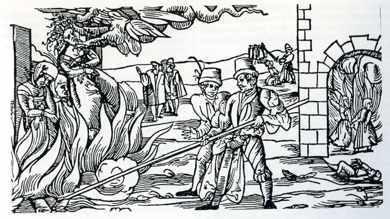 Une illustration du Moyen-Age montrant l'exécution de sorciers par le feu, comme ce fut le cas dans l'affaire évoquée ici.
