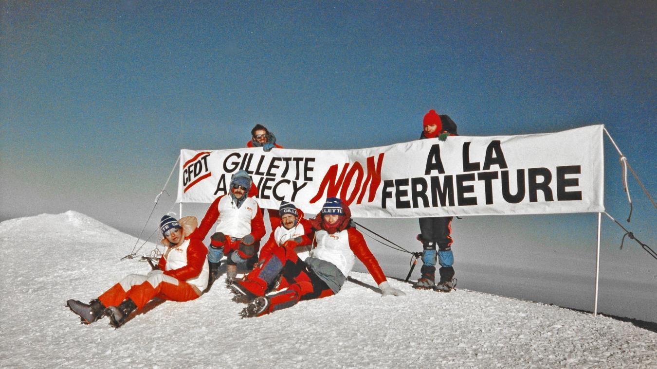 Le message inscrit sur la banderole des quatre salariés de Gillette Annecy avait été très médiatisé dans le monde.