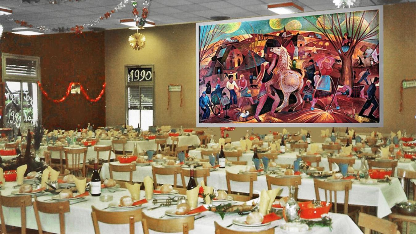 La fresque de Georges Hermann, qui ornait le restaurant d'entreprise, a disparu en 1992 après le départ de Gillette. À la place aujourd'hui, deux fenêtres percées dans le mur...