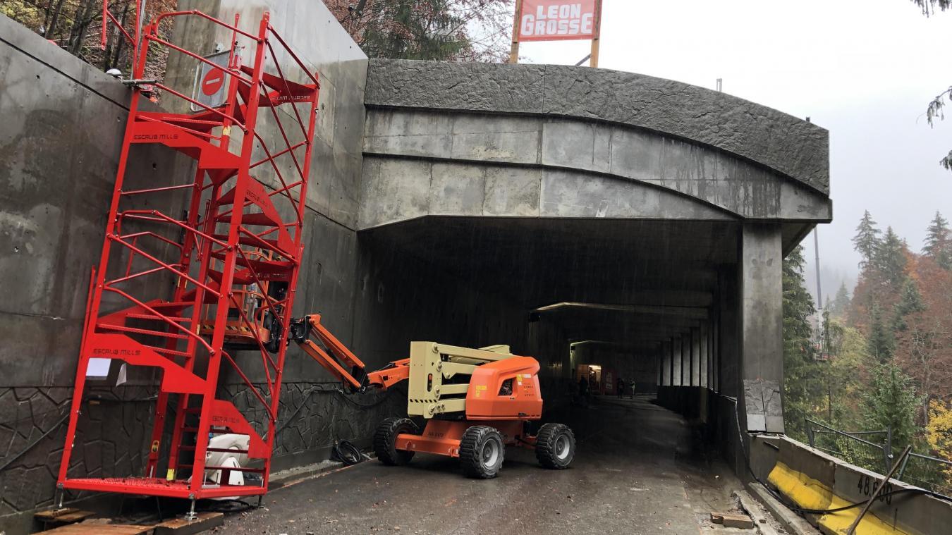 La galerie par-blocs a été réalisée sur 120 mètres. Elle sera prolongée sur 30 mètres supplémentaires l'an prochain.
