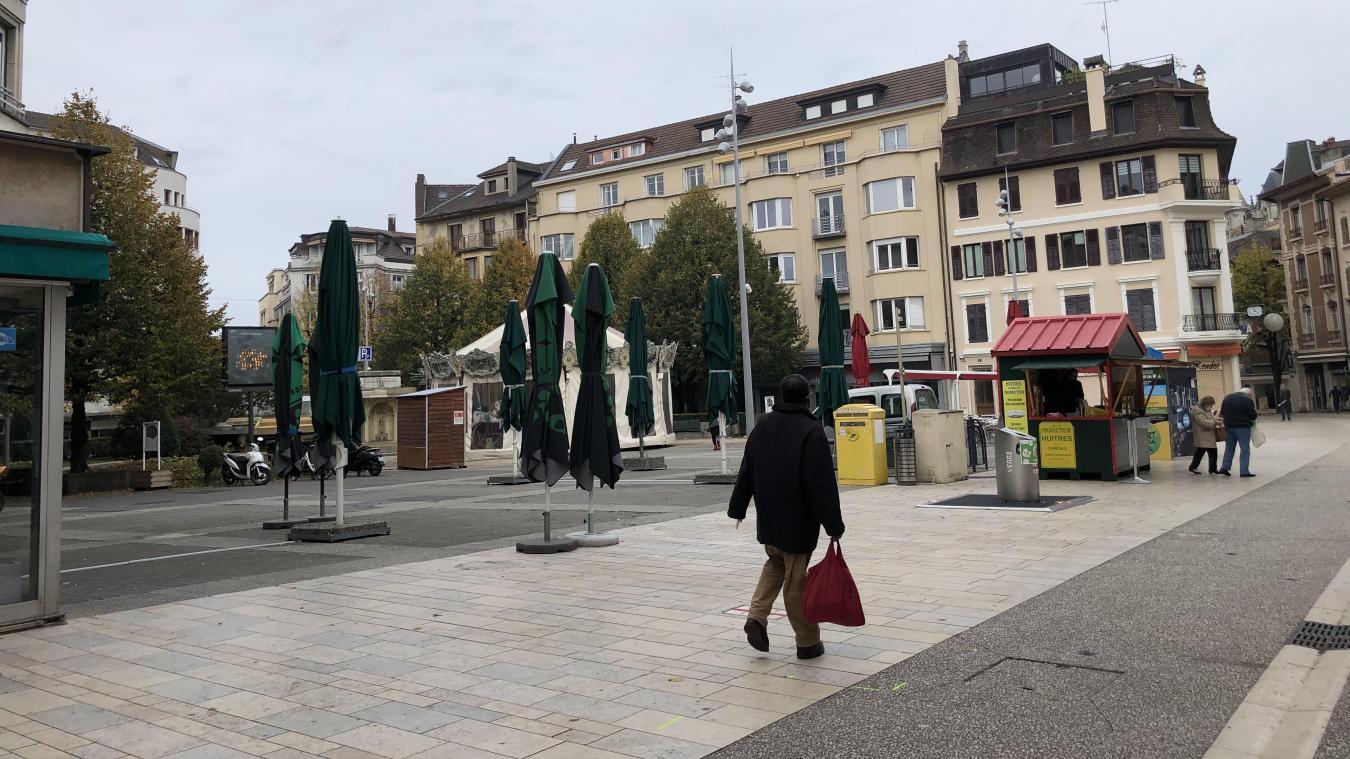 L'agression s'est déroulée au niveau du square Aristide Briand, à Thonon-les-Bains.