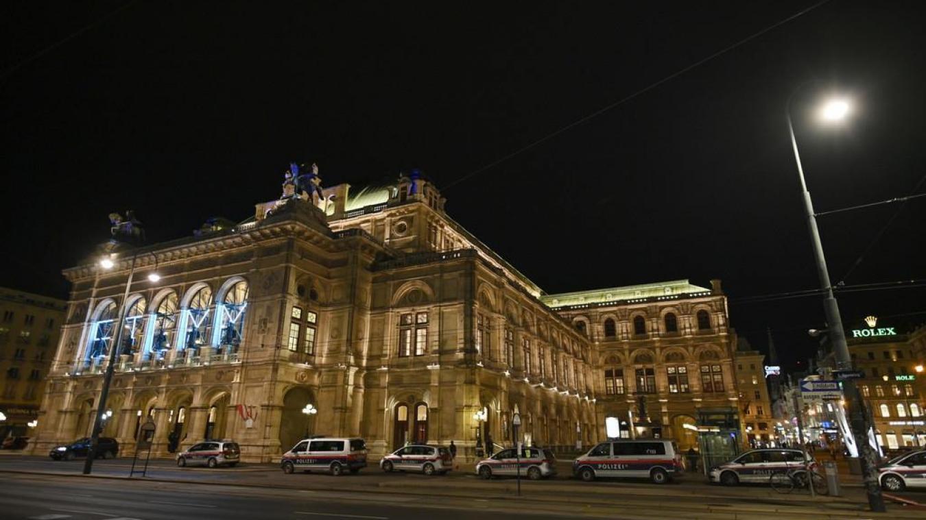 La fusillade a notamment eu lieu près de l'opéra de Vienne, lundi 2 novembre.