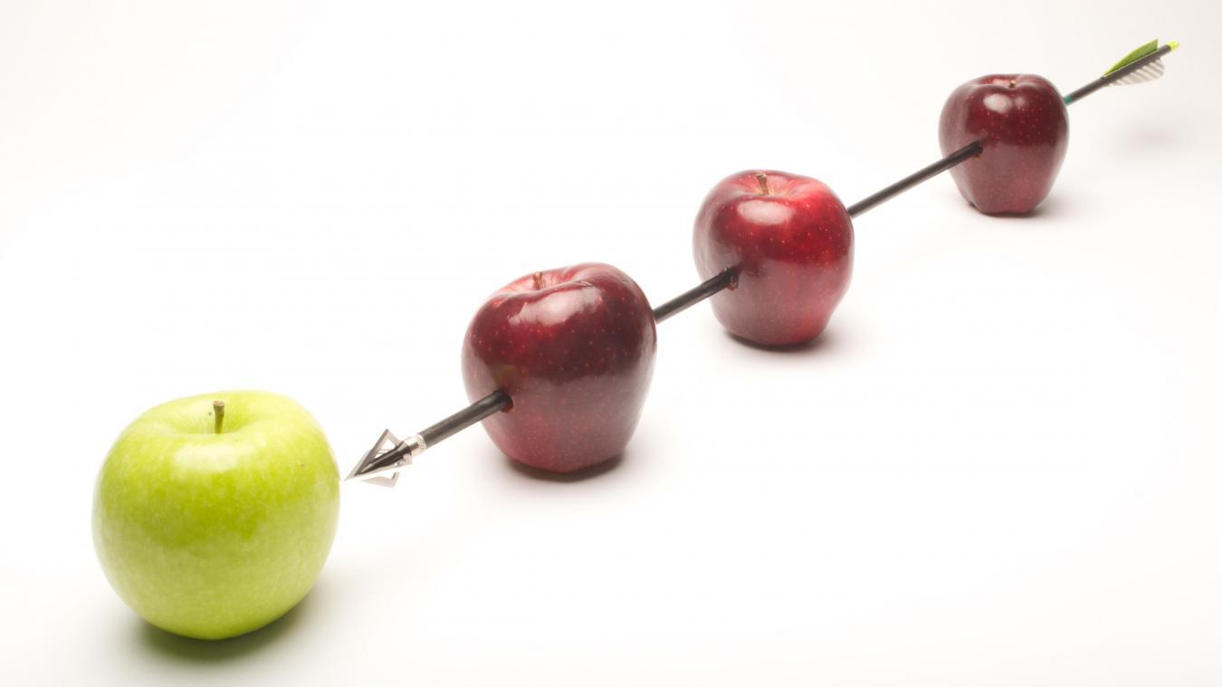 Une vraie pomme ou des salades ?