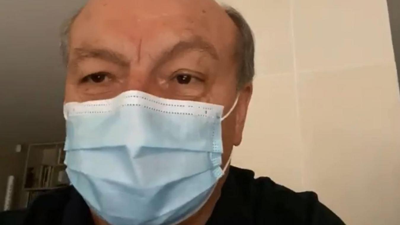 Capture d'écran de la video Facebook.