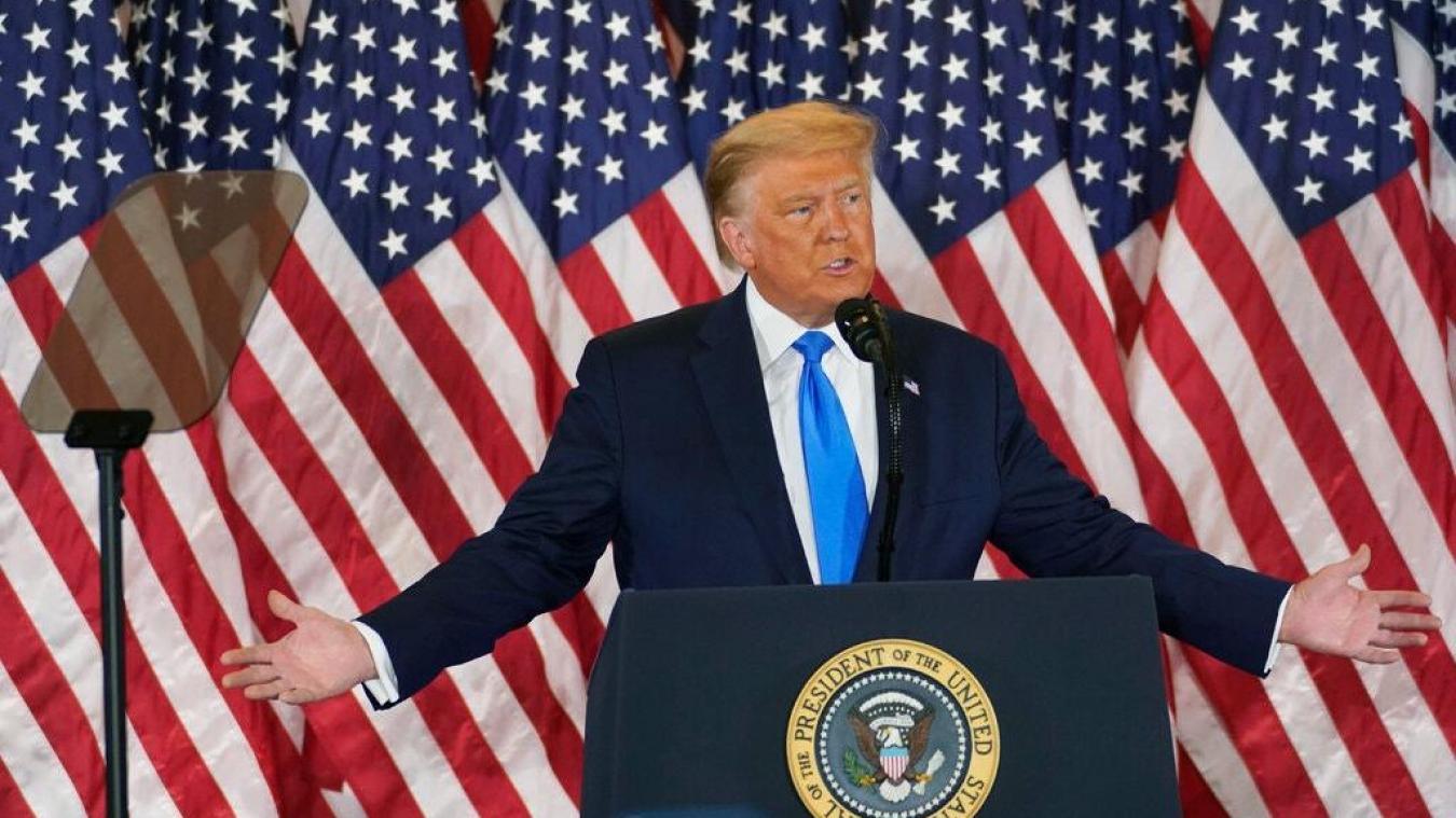 Donald Trump s'est exprimé depuis la Maison Blanche.