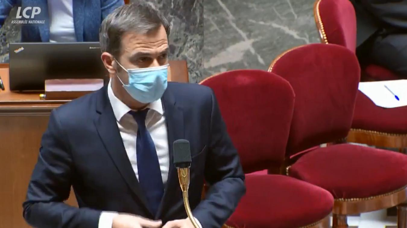 Olivier Véran devant l'Assemblée nationale mardi 3 novembre