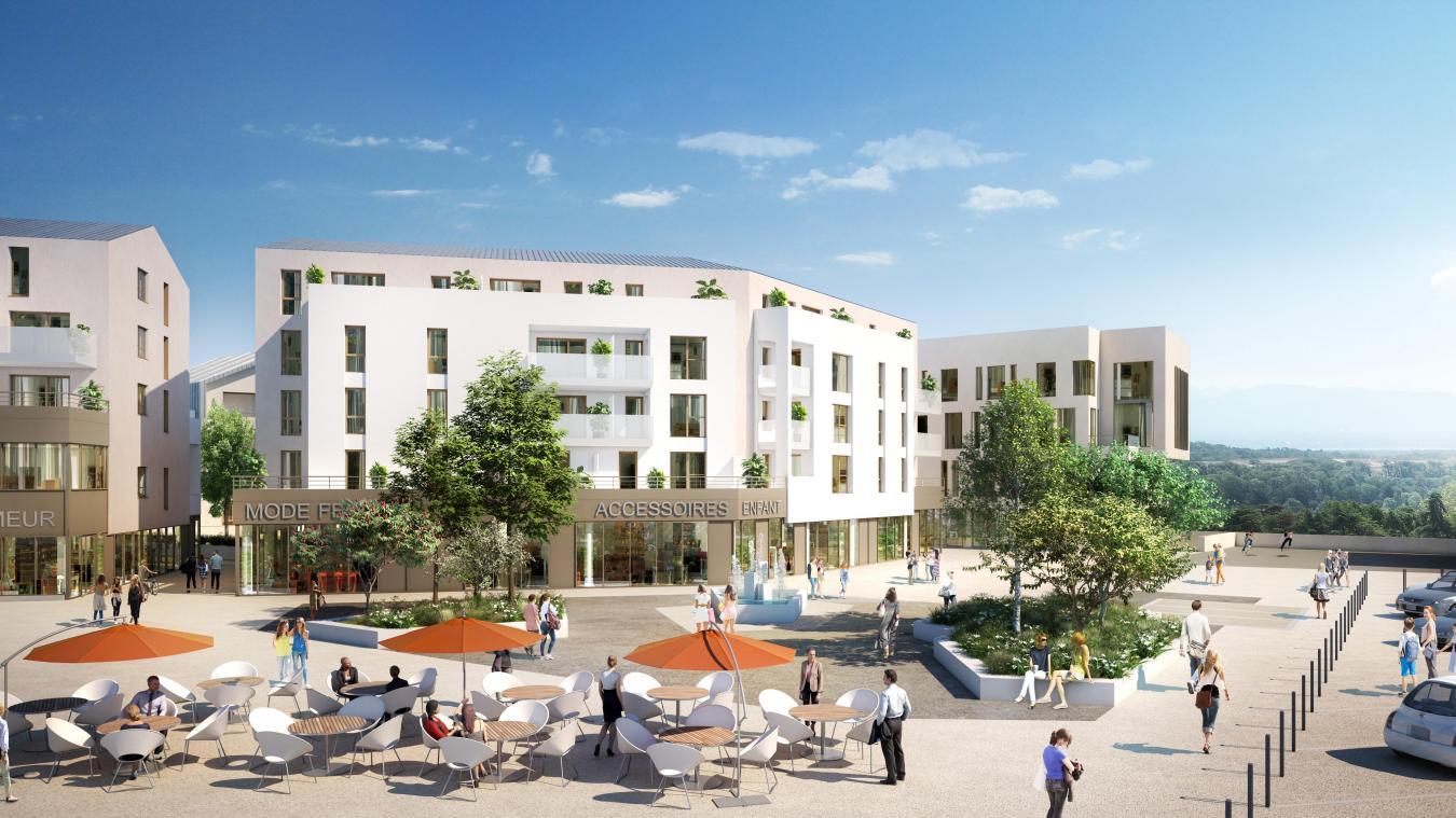 La place du Jura sera totalement transformée. © Groupe Duval