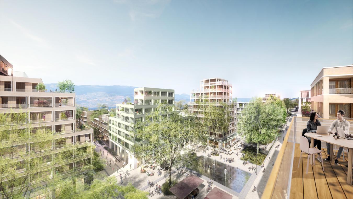 Plus de 3000 nouveaux habitants vivront dans ce nouveau quartier, situé sur les communes d'Annemasse, Ambilly et Ville-la-Grand. Crédit : Devillers & Associés.