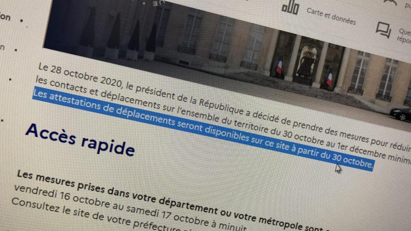 Reconfinement Les Attestations De Deplacement Sont Disponibles Le Messager