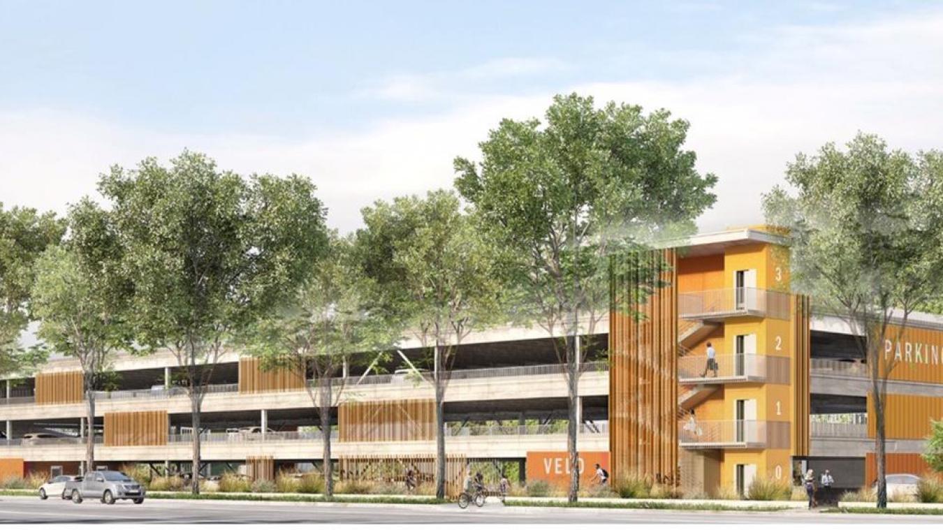Le parking-silo sera construit sur le boulevard du Fier, face à la salle de spectacle l'Arcadium, juste à côté des terrains de tennis couverts.