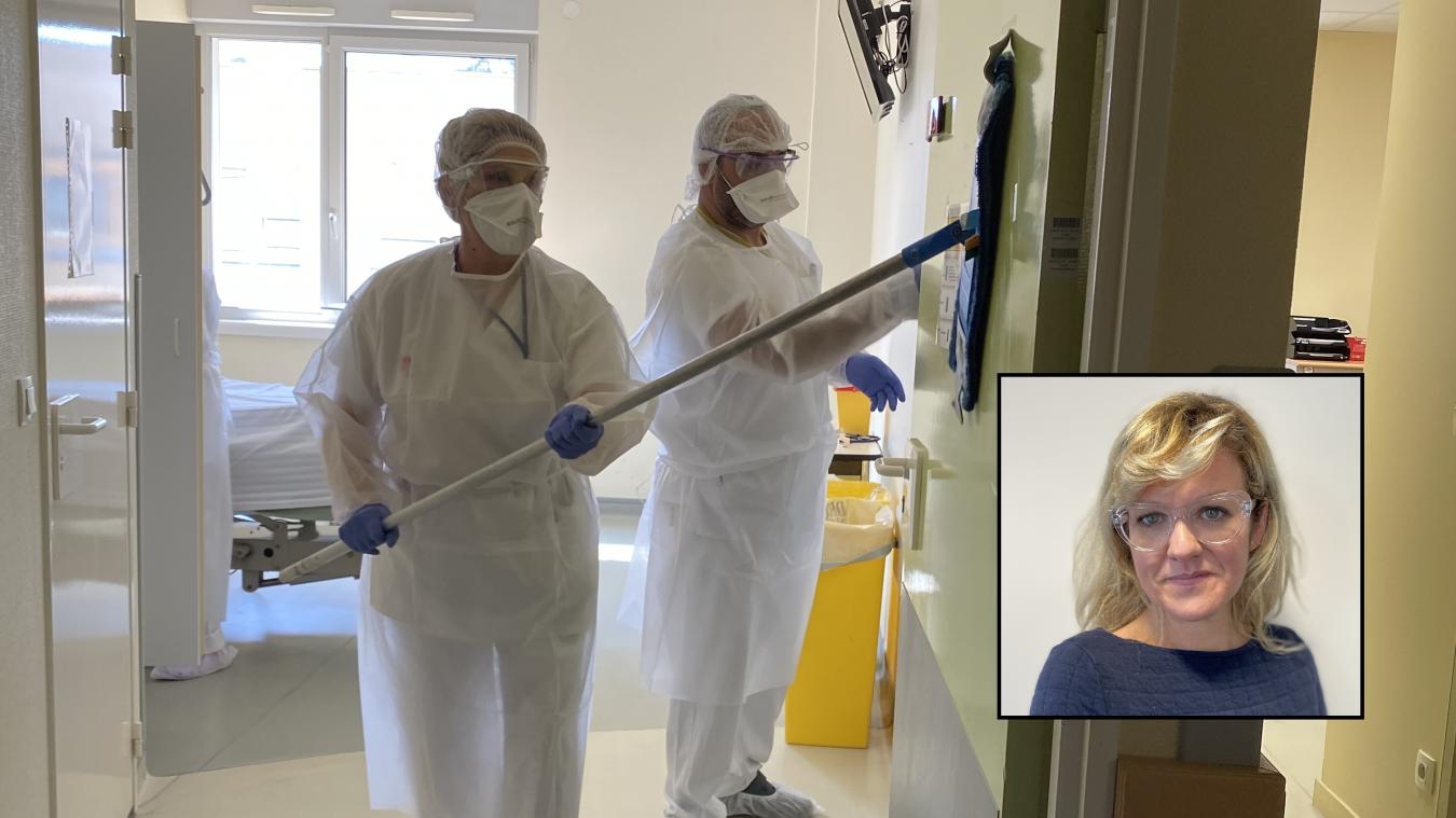 CarolineTreins (en médaillon), DRh de l'hôpital d'Annecy, recherche des infirmiers, des aides-soignants et des agents des services hospitaliers.