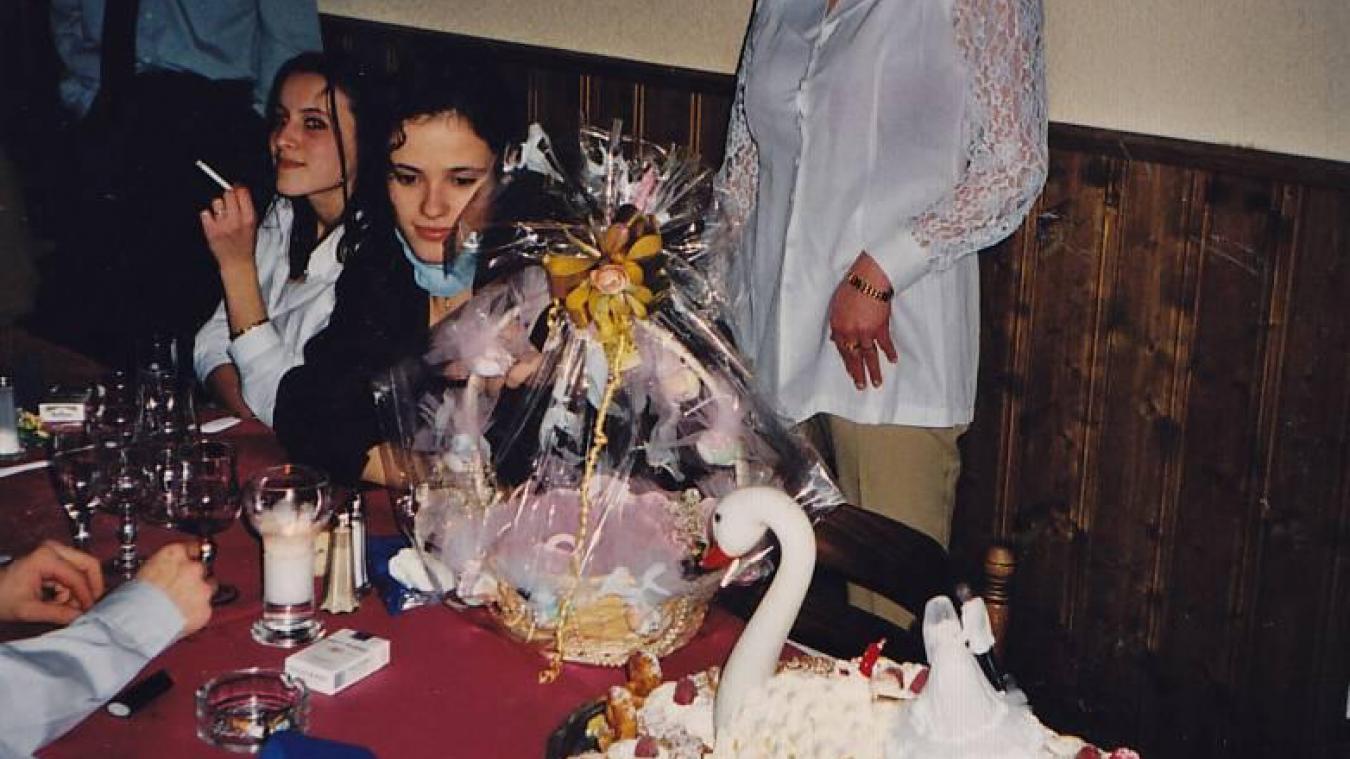 Magalie lors d'une fête de famille.