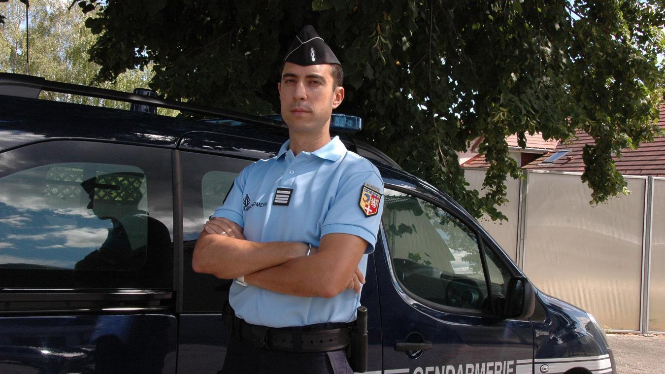Laurent Cardin, commandant de la compagnie de gendarmerie de Gex.