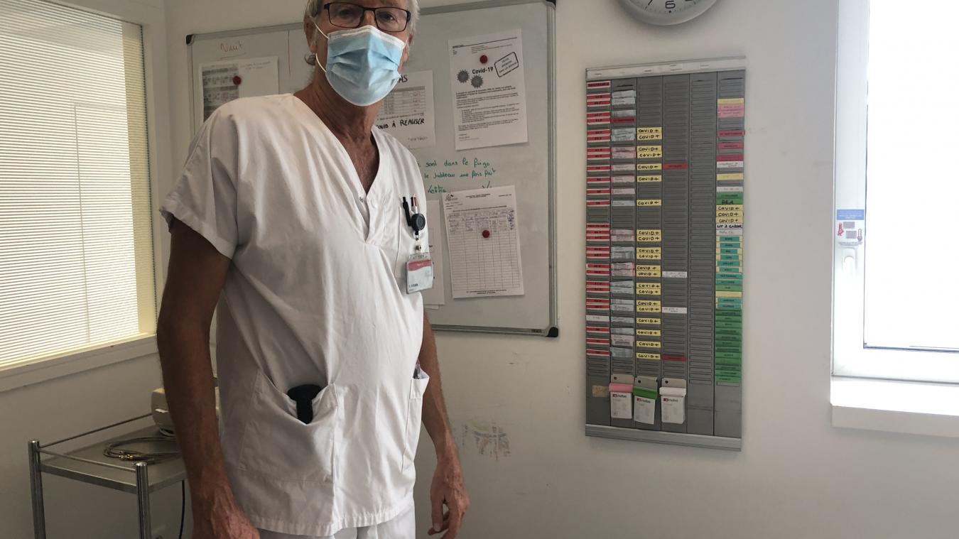 «Tous les services de l'hôpital abritent des patients Covid-19» contrairement à ce printemps