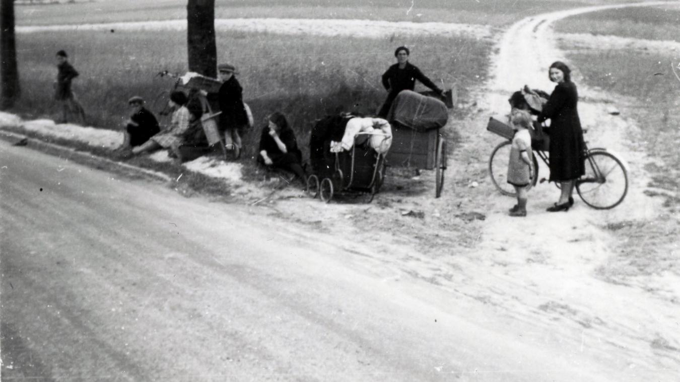 Une vue de l'exode de mai-juin 1940.