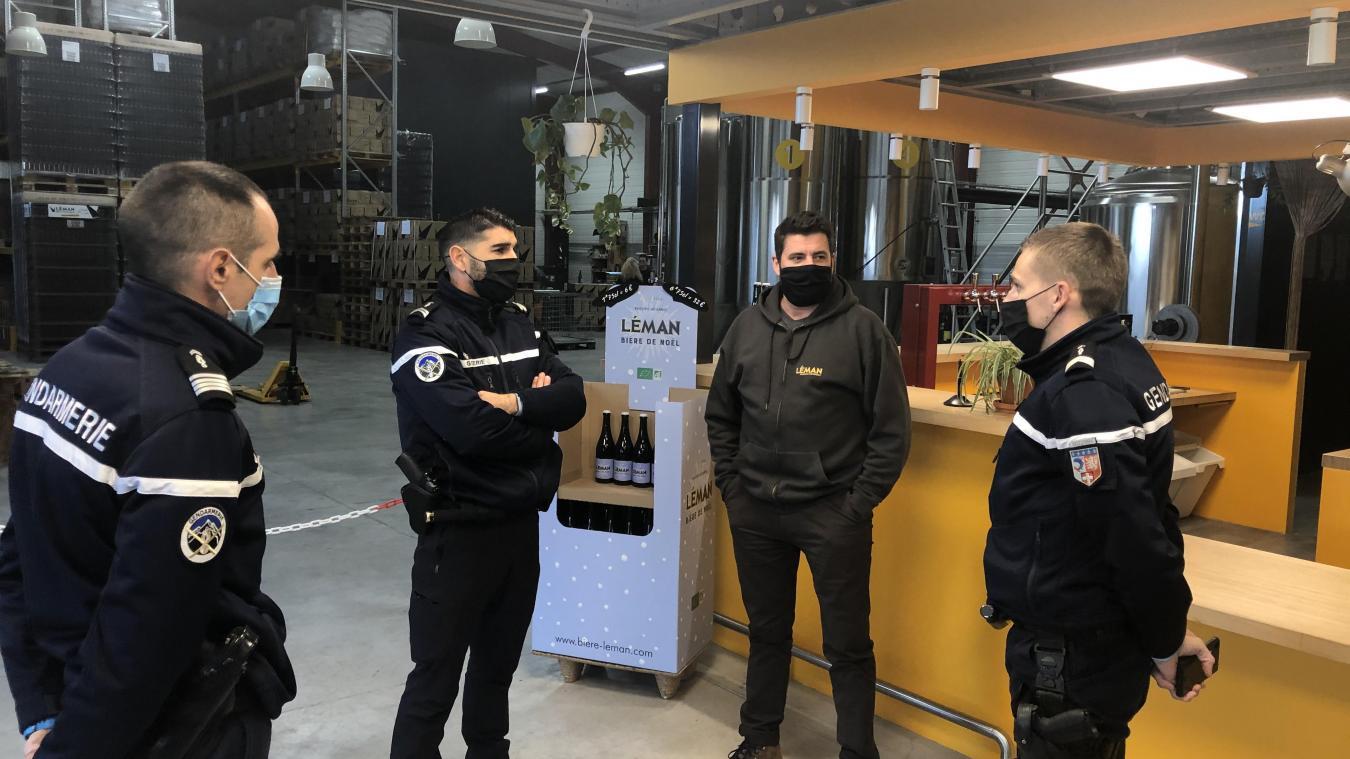 Laurent Reymonet, qui détient la Brasserie artisanale du Léman à Allinges, fait partie des commerçants qui ont adhéré à l'OPEC.