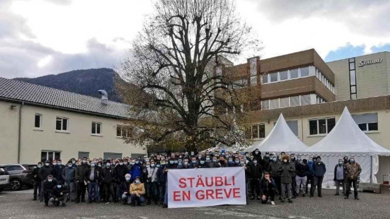 Le mouvement est très suivi au sein de l'usine favergienne.