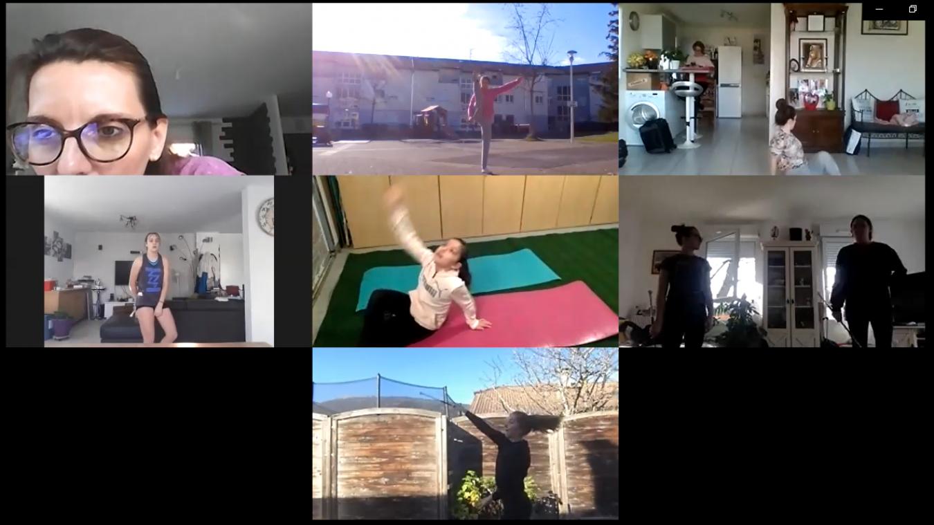 Pour twirling club la Gessienne, les répétitions des différentes chorégraphies se font par vidéo.