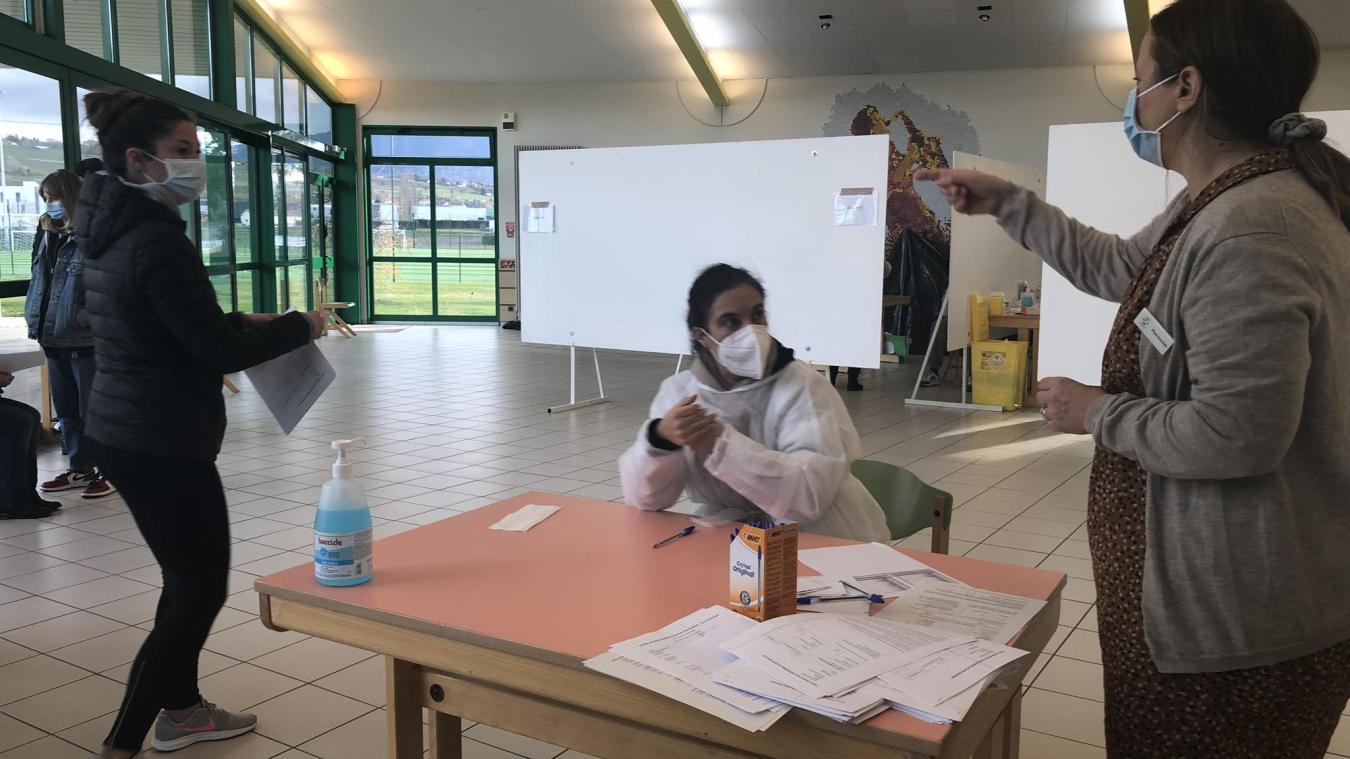 Le centre de dépistage de Douvaine a effectué, durant deux semaines, entre 550 et 600 prélèvements.