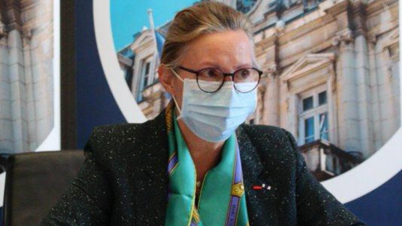 Catherine Sarlandie de la Robertie, préfète de l'Ain, a tenu une conférence de presse vendredi 27 novembre à la suite des annonces, la veille, du président Macron.