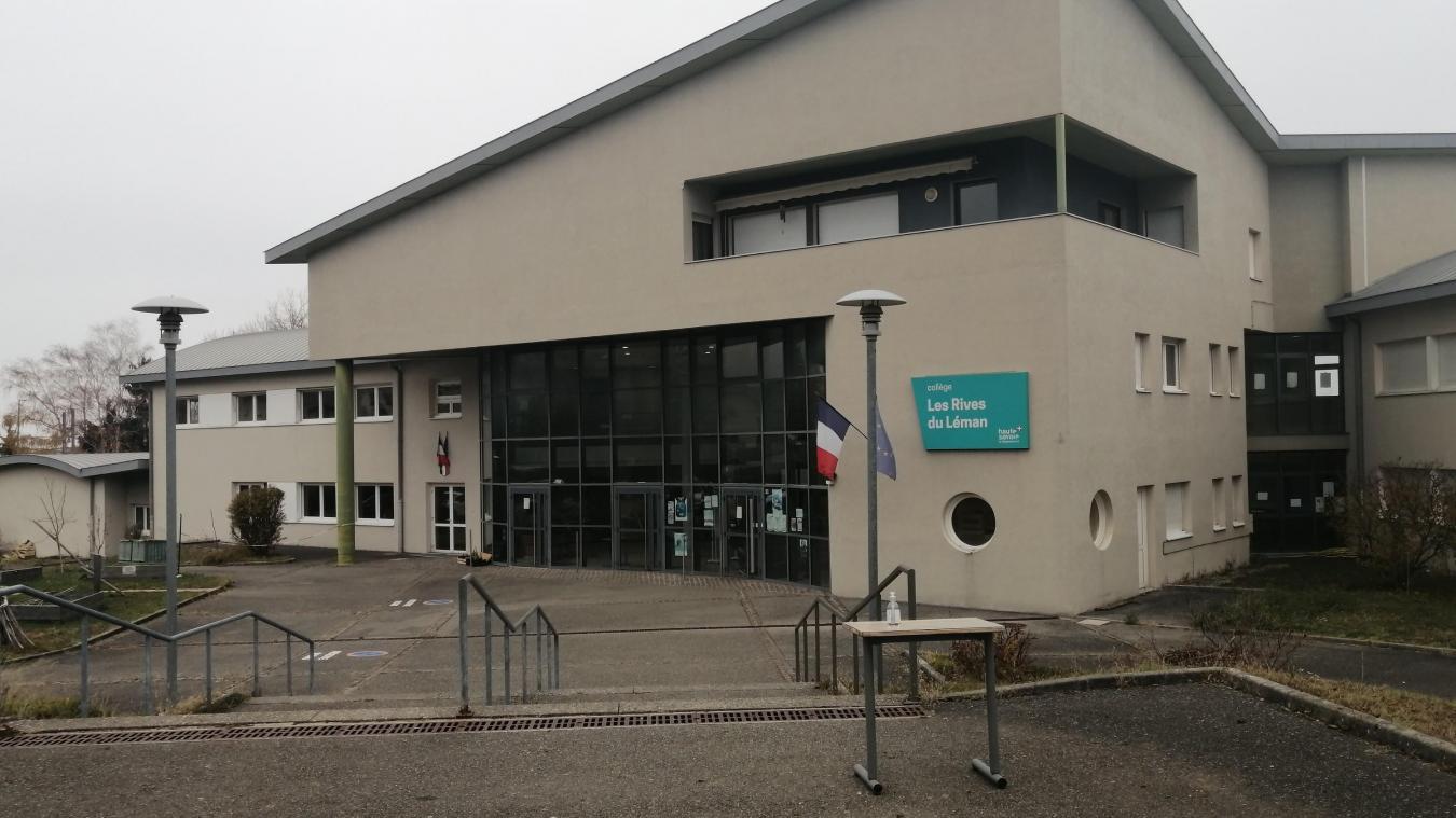Le collège des Rives du Léman à Evian est fortement touché la seconde vague de l'épidémie.