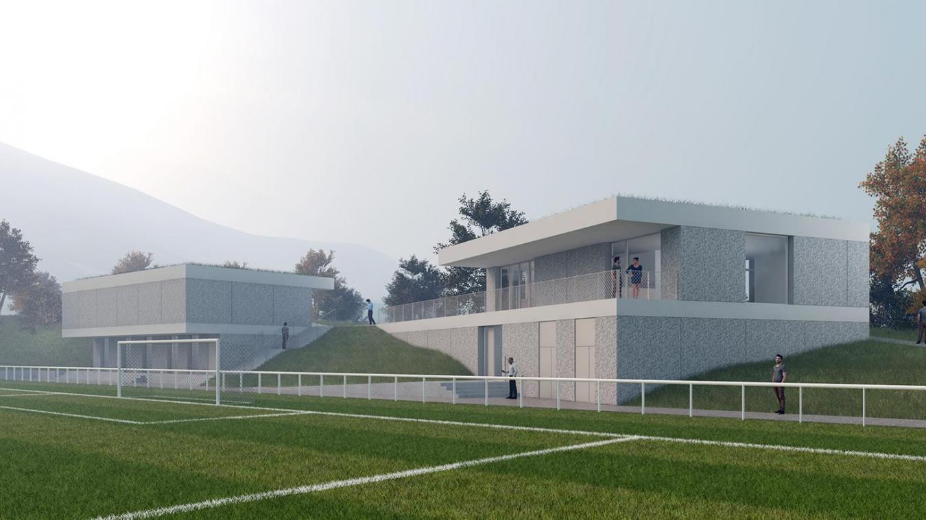 Voici le projet initial de reconstruction des locaux de l'ES Lanfonnet.