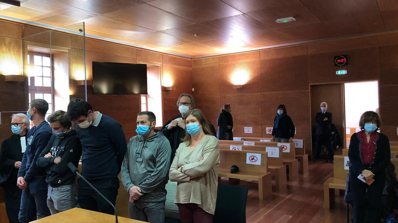 Les prévenus à la barre du tribunal de Thonon-les-Bains.