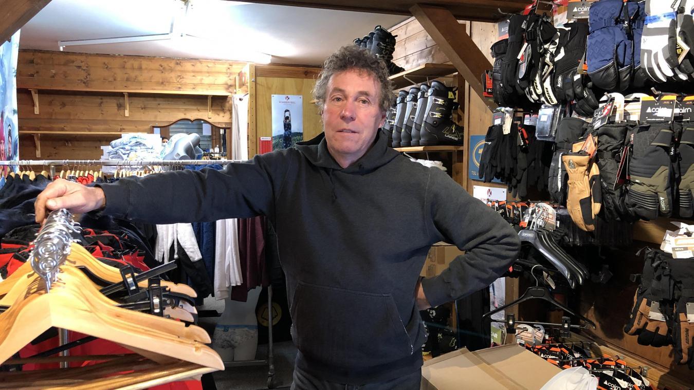 «Je ne demande que ça de travailler», confie Didier Bouvet, gérant de Bouvet Sports à Abondance.