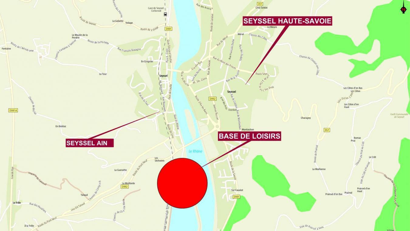 L'altercation s'est déroulée sur le parking de la base de loisirs de Seyssel Ain.