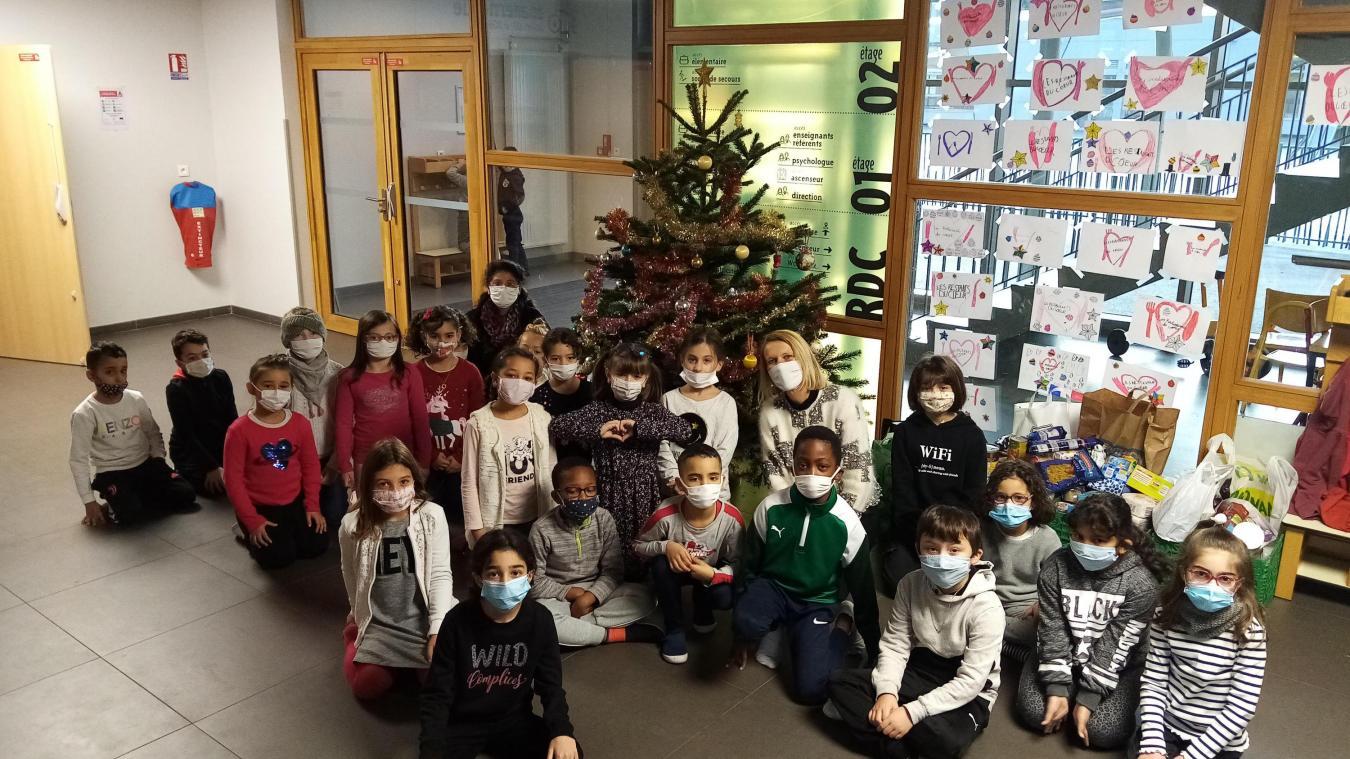 La classe de CE1 de Karine Vulliez, à l'école du Châtelard de Thonon.