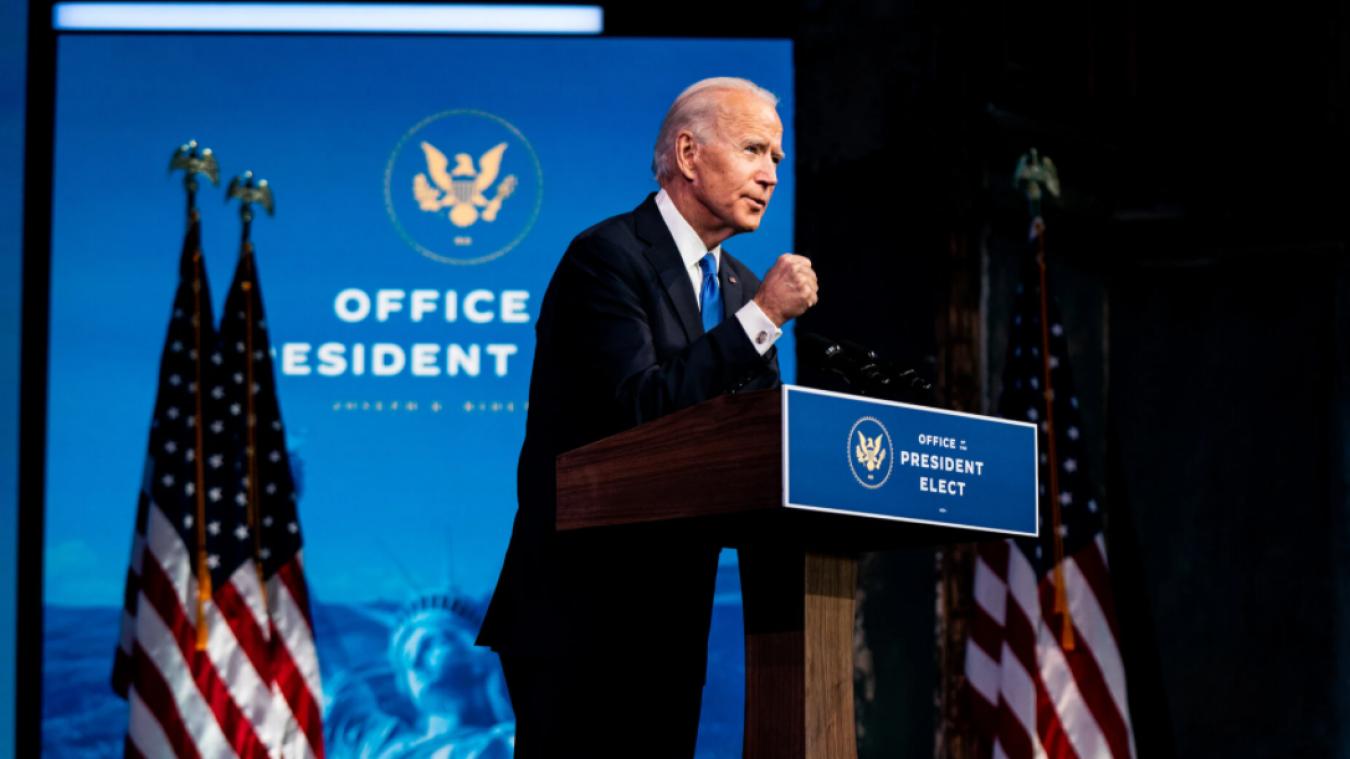 Joe Biden sera investi 46e président des Etats-Unis le 20 janvier 2021.