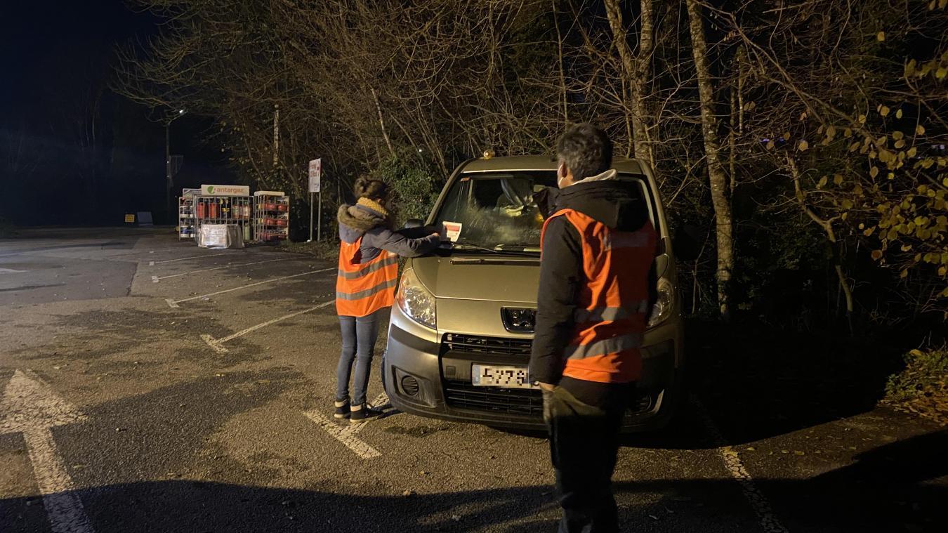 Les bénévoles ne réveillent pas les personnes endormies dans leur véhicule.