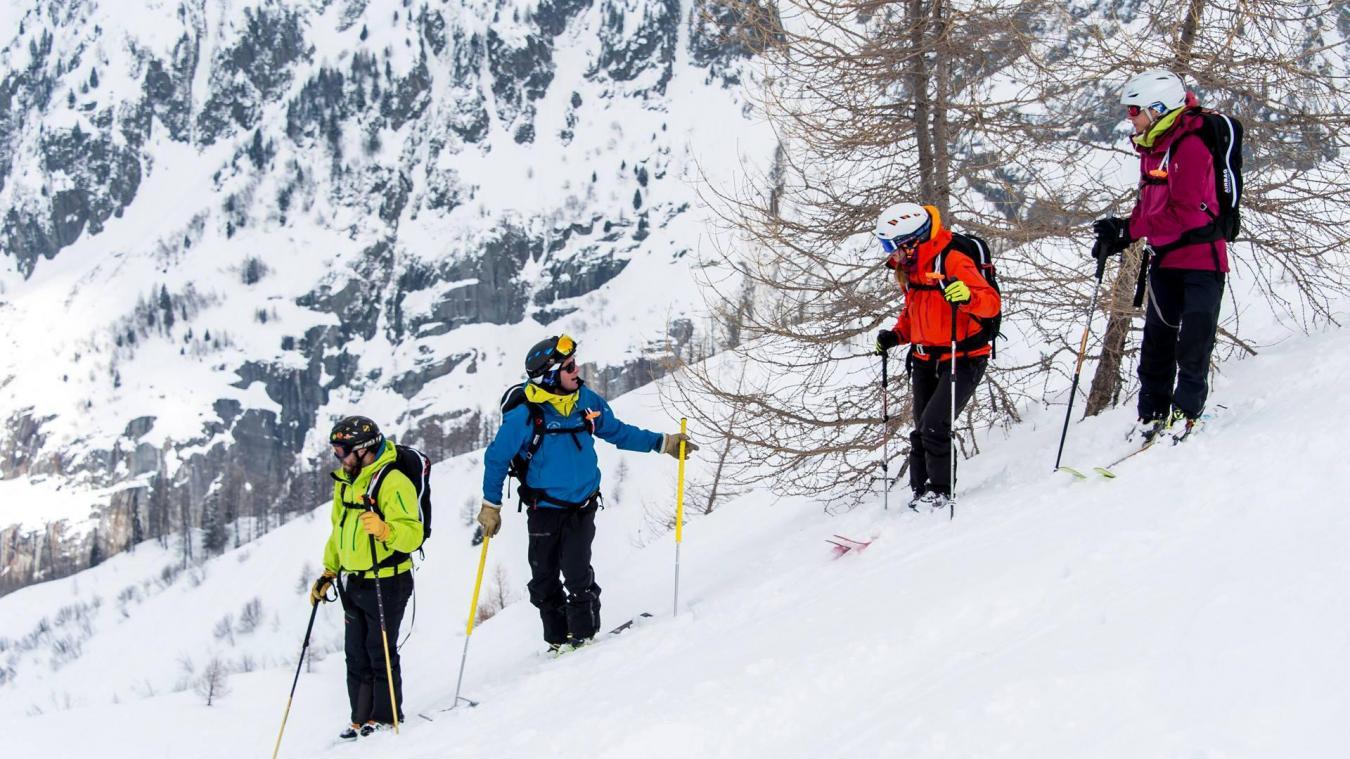 La Chamoniarde organise des formations portant sur la sécurité en ski de rando.