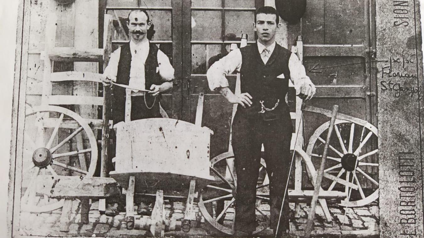 A droite, Florian Davaud, arrière-grand-père de Sébastien Bochet.
