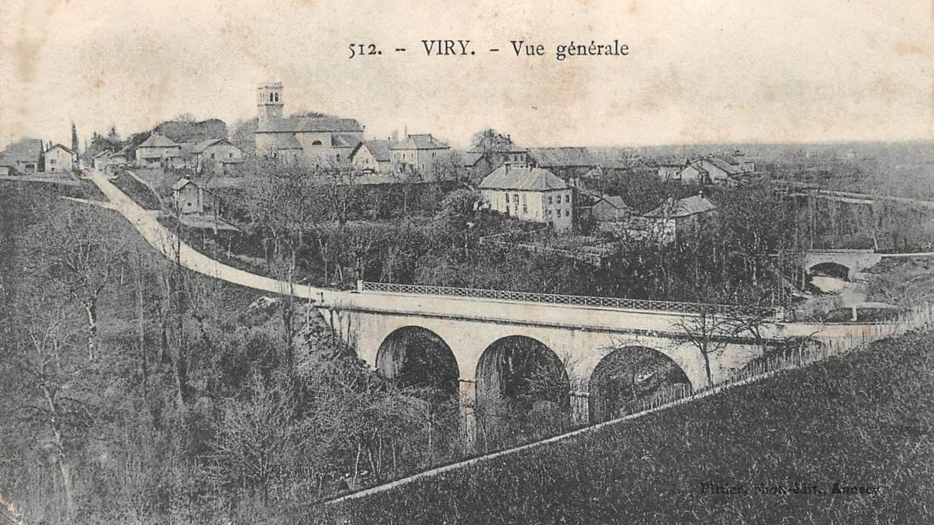 Vers 1900, une vue générale du chef-lieu, centre de toutes les récriminations pour les « villages du bas » que sont Veigy, Malagny et Humilly.