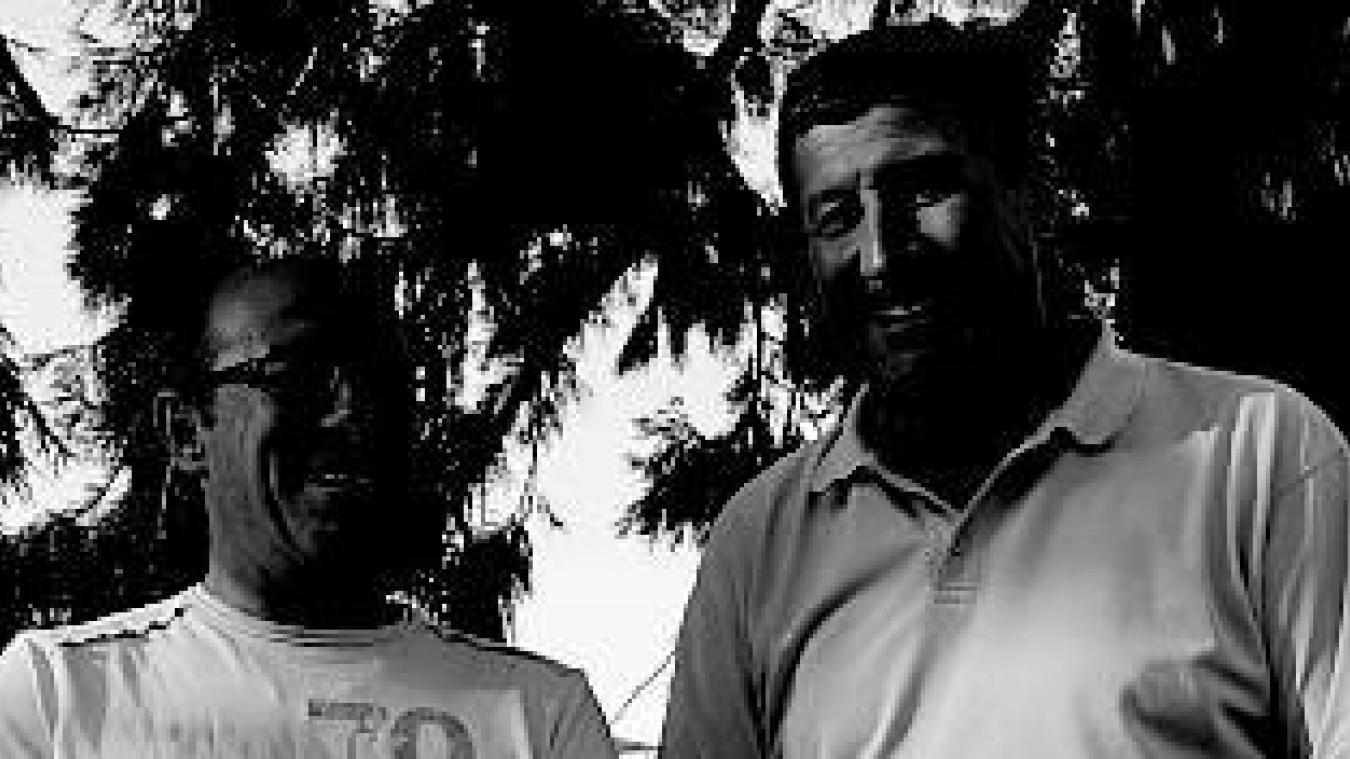 Claude Alphonse (à droite) aux côtés de Rodolphe Costa.