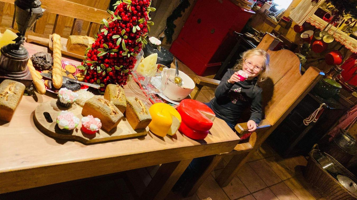La fille de Gaëlle rêve de rencontrer un lutin du Père Noël. En attendant, elle se régale les papilles.