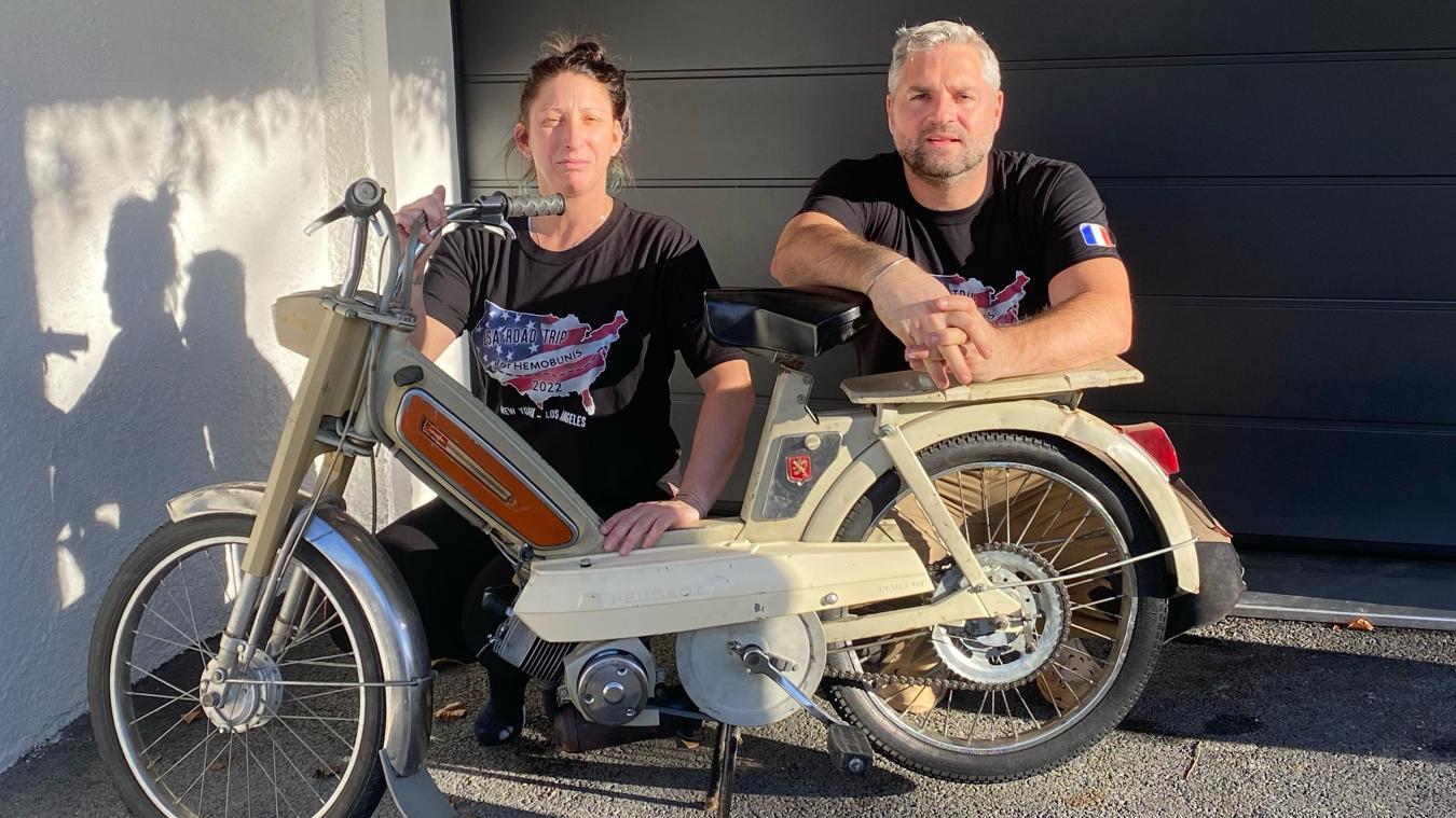 Philippe et Laure enfourcheront leur mobylette de New York à Los Angeles en septembre 2022.